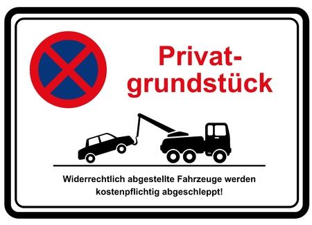 private property no parking 版權商用圖片 - 61564525
