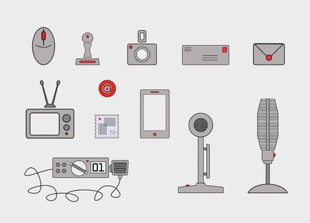 Communication clipart and web icons 版權商用圖片 - 67484181