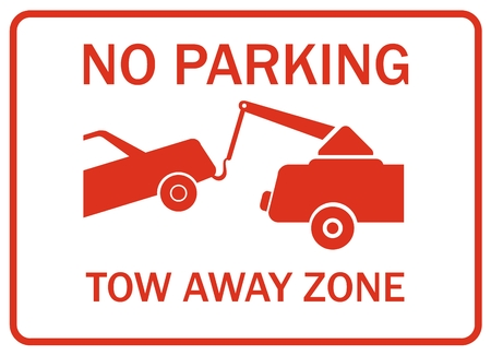 interdict: No parking tow away zone Illustration