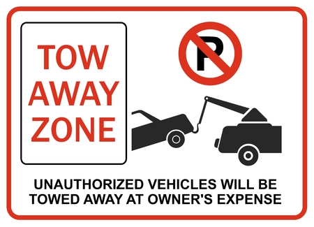 interdict: Unauthorized vehicles will be towed away