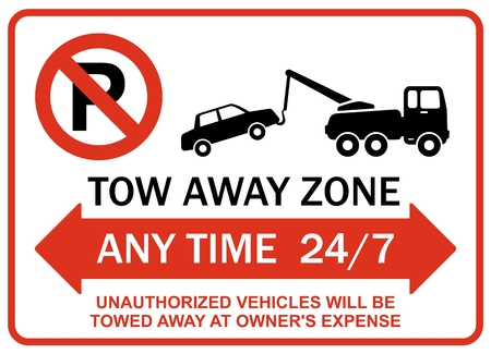 tow away zone any time