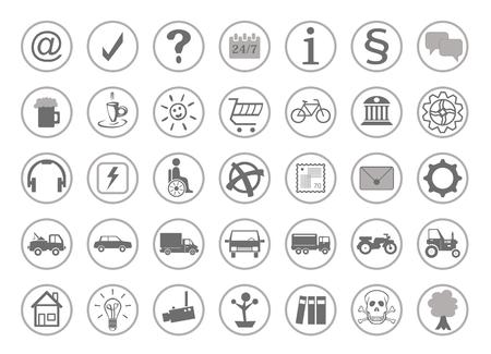 Website pictogrammen voor de homepage Stock Illustratie