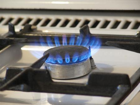 hotplate with blue gas 版權商用圖片 - 105213211