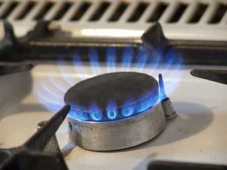 hotplate with blue gas
