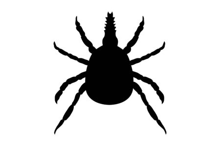 Attention tick, here threatens danger! 版權商用圖片 - 131753512