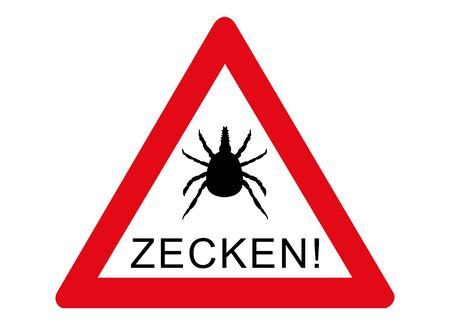 Attention, ticks contaminated area and forest, please do not enter! 版權商用圖片 - 135533161