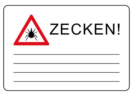 Ticks! Do not enter this area. Please note the information label! 版權商用圖片 - 130855603