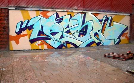 Graffiti on a legal wall in Marsta Sweden Sajtókép