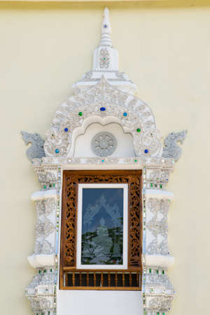 Beautiful Thai temple window in Chiangmai photo
