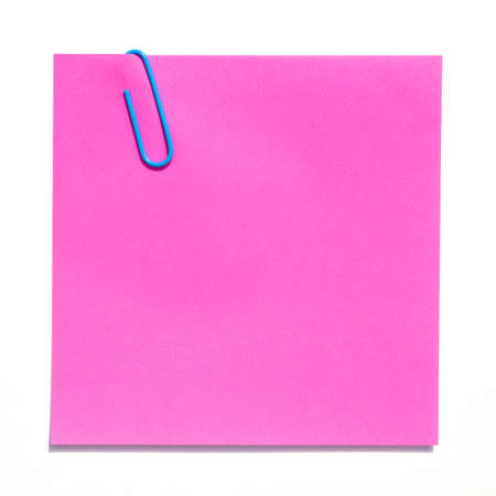 Blank pink sticky note photo
