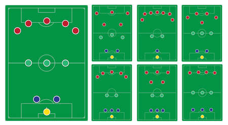 formation: classic soccer formation set