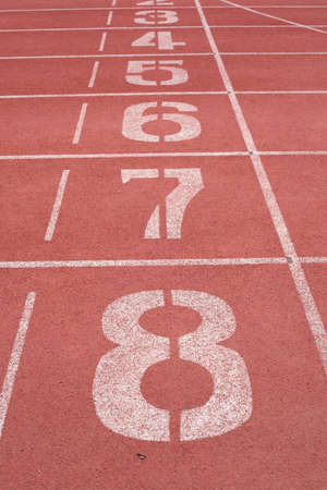 The number on running path Banco de Imagens