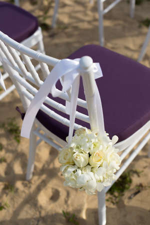 decoration of wedding chairs