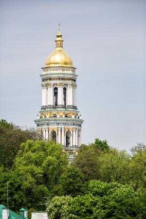 lavra: Dormition Cathedral in Pechersk Lavra in Kiev. View of Kiev Pechersk Lavra Orthodox Monastery, Ukraine