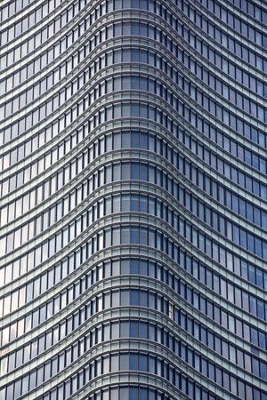 Modern building window. Aluminum decoration of the facade and windows of a modern building. metallic facade of a modern building