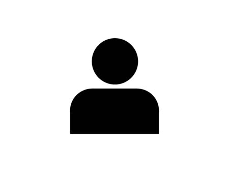Human man icon simple illustration. 写真素材 - 132369948