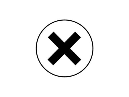 Delete icon - no sign, close symbol, cancel, wrong and reject illustration.