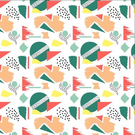 기하학적 및 임의의 모양을 현대적인 원활한 패턴으로 결합