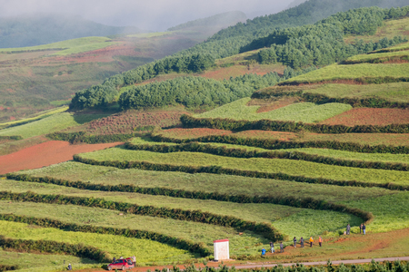 Hongtudi, Red soil of Yunan photo