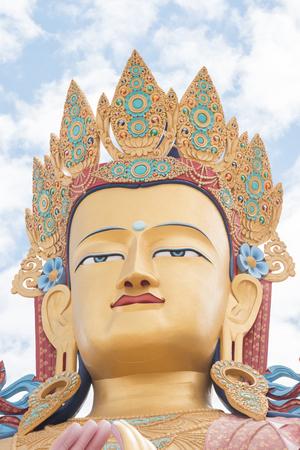 Vast Maitreya Buddha at Diskit in Ladakh Stock Photo