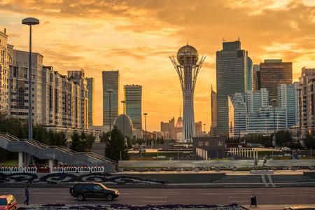 Astana Kasachstan Sightseeing Standard-Bild