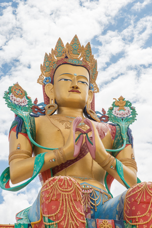 vast: Vast Maitreya Buddha at Diskit in Ladakh Stock Photo