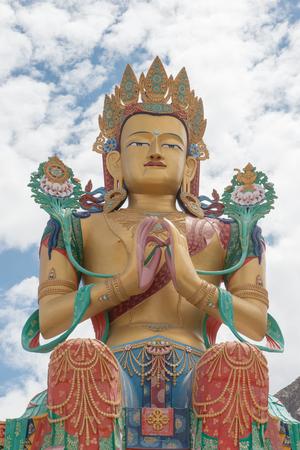 Vast Maitreya Buddha at Diskit in Ladakh photo