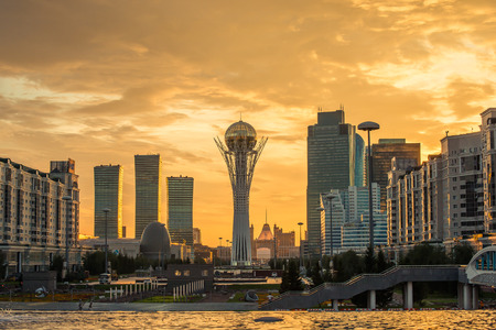 Astana Kasachstan Sightseeing Editorial