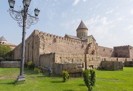 Swetizchoweli-Kathedrale, ein georgisch-orthodoxen Kathedrale in der Stadt Mzcheta, Georgia.