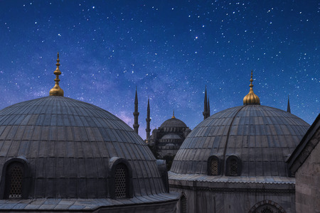 Die Blaue Moschee mit startail in Istanbul, Türkei Standard-Bild