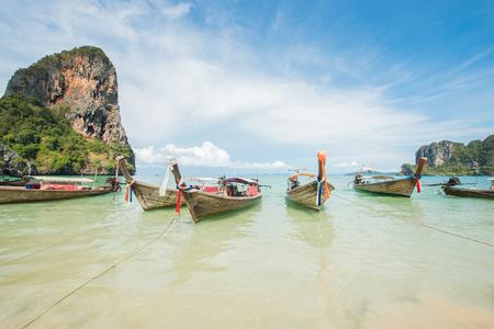 railay: Railay beach in Krabi Thailand Stock Photo
