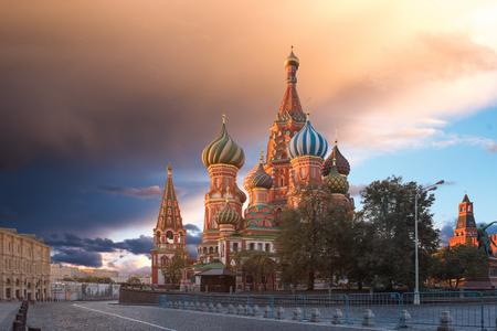 Moskau, Russland, Roter Platz, Blick auf die Basilius-Kathedrale