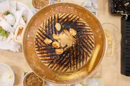 la quemada: Pan quemado. termina de comer