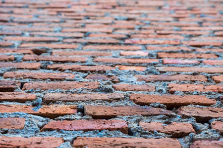 depth of field: brick wall background texture in shallow depth of field Stock Photo