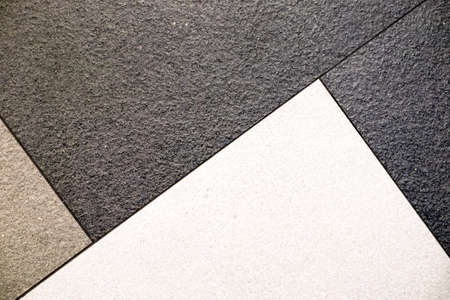 schwarz grau weißen Fliesen abstrakte Muster Hintergrund