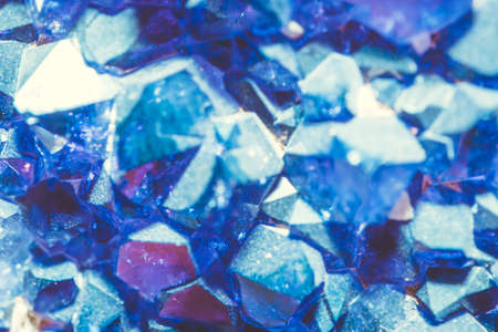 sulfate: Abstract Crystals of blue vitriol - Copper sulfate Stock Photo