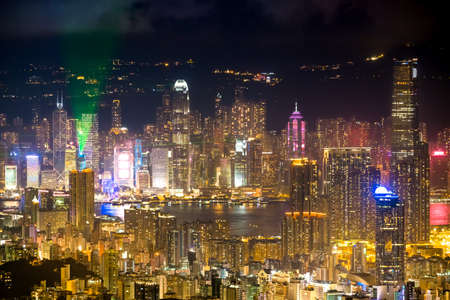 newyork: Hong Kong night Stock Photo