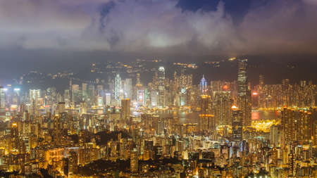 newyork: Hong Kong city at night in hong kong