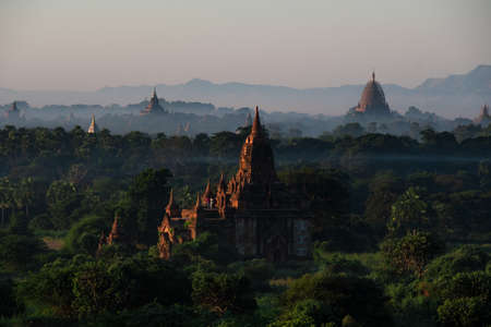 archeological: Bagan, Myanmar temples in the Archaeological Zone.