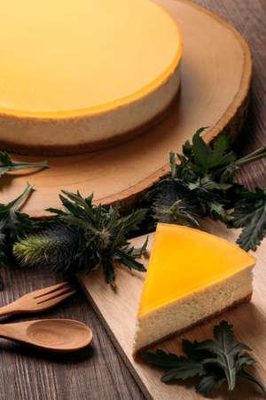 Zelfgemaakte New York cheesecake Stockfoto
