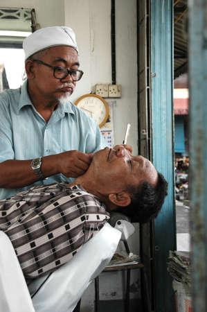 barbero: Tradicional Peluquer�a  Foto de archivo