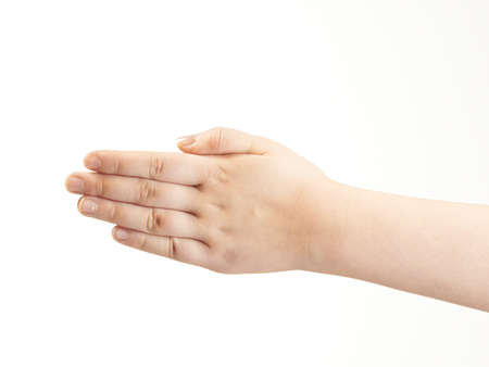 Back of childs hand photo