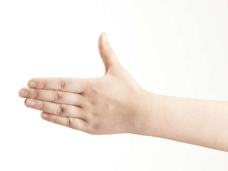 Back of childs hand - thumb up