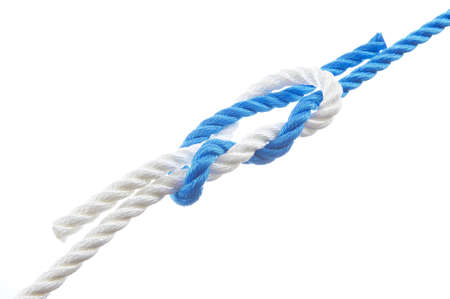 Surgeon s knot isolated on white background