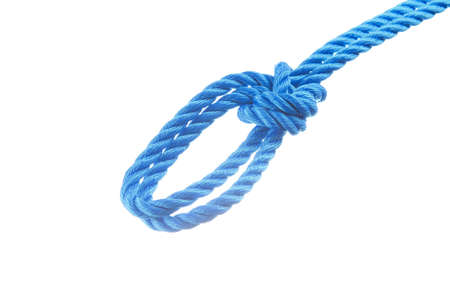 bight: Bowline on a bight isolated on white