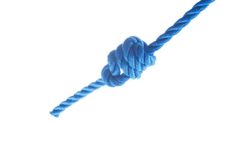 Heaving line knot isolated on white background Stock Photo