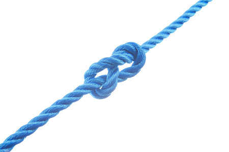 Figure eight knot  isolated on white background