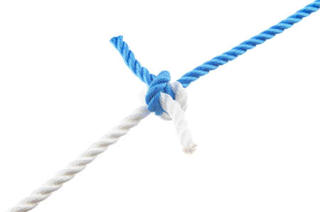 Hunter´s knot  isolated on white background Stock Photo