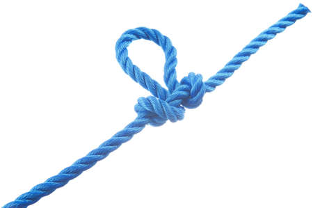 Manharness knot  isolated on white background Stock Photo