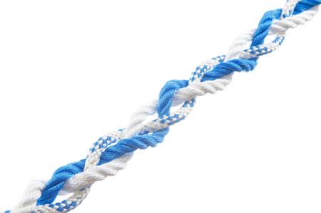 Three strand braid  isolated on white background